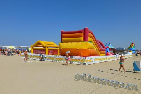 Анапа городской пляж детский сад август