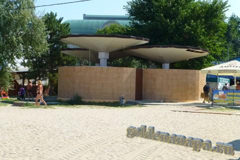 Анапа городской пляж туалет август