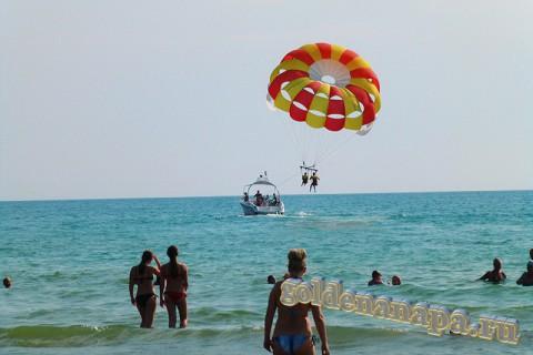 Пляж Джемете вход с Джеметинского проезда аттракцион парашют