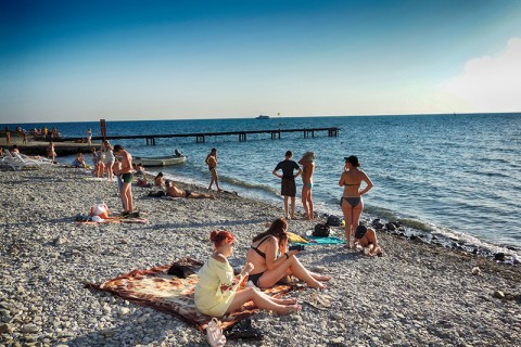 "Анапа пляж ""Высокий берег"""