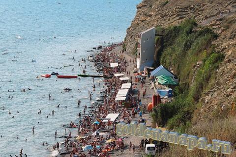 Анапа вид на галечный пляж и спуск к пляжу возле ул. Тургенева