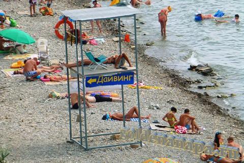Анапа галечный пляж. Спуск возле ул. Тургенева. Дайвинг.