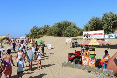 Вход с ул. Светлая на пляж Витязево начало августа