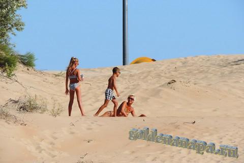 Пляж Витязево барханы вход с ул. Светлая