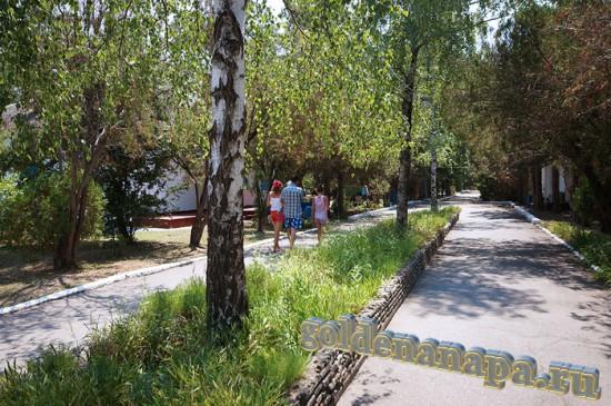 "Анапа Пионерский проспект дом отдыха ""Голубая даль"" аллея"