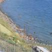 Анапа спуск к пляжу возле ул. Тургенева. Вид на пляж и море.