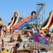 Пляж Витязево начало августа аттракционы горки